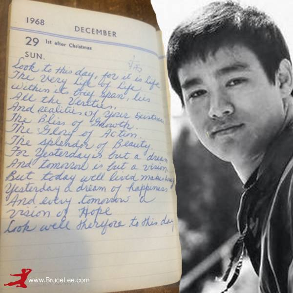 Bruce Lee Notebook Entry Brothers In Blood